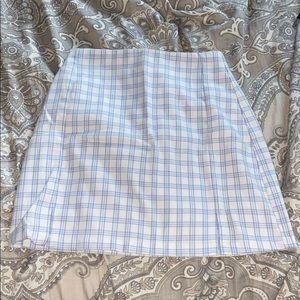 BRANDY MELVILLE blue and white plaid skirt